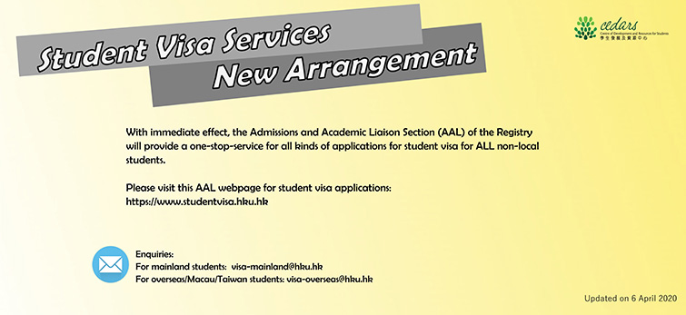 Student Visa Services – New Arrangement